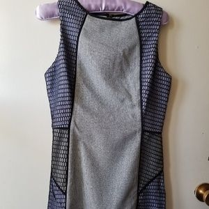 NWOT Grey and Purple Dress with Mesh Sides